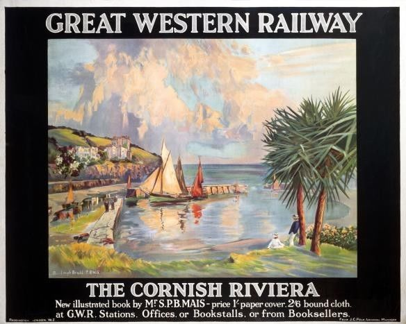 Great Western Railway Travel Poster.The Cornish Riviera | eBay