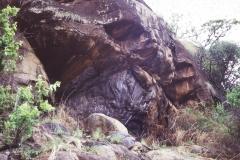 Sirumalai - rock-shelter paintings - Aruvimalai