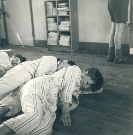Class Play  - Clare Milne, ? , Tony Stanton, unidentified legs . . .