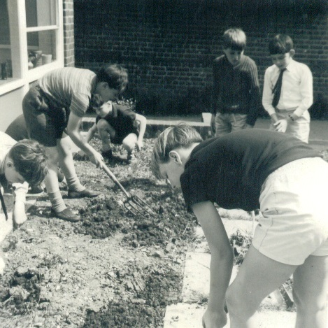 Gardening - l to r :  Kevan Bundell, Ian White, Roger Doswell, Martin Claytor, Gregory Able, Robbie Medland