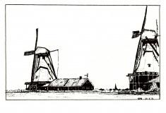 Windmills-Zaanstadt-Nederlands-1974